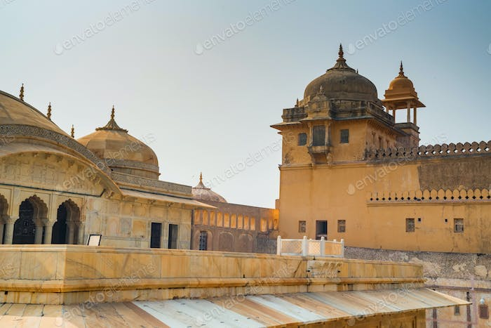 Scenic view of Amber or Amer fort in Jaipur, India