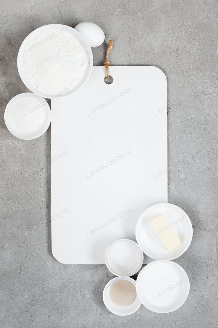 Kitchen Background with Empty Cutting Board