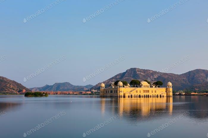 Jal Mahal (Wasserpalast). Jaipur, Rajasthan, Indi