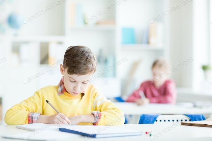 Sketching at lesson