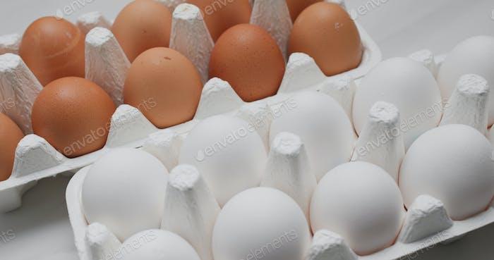 Packung des Hühnerei