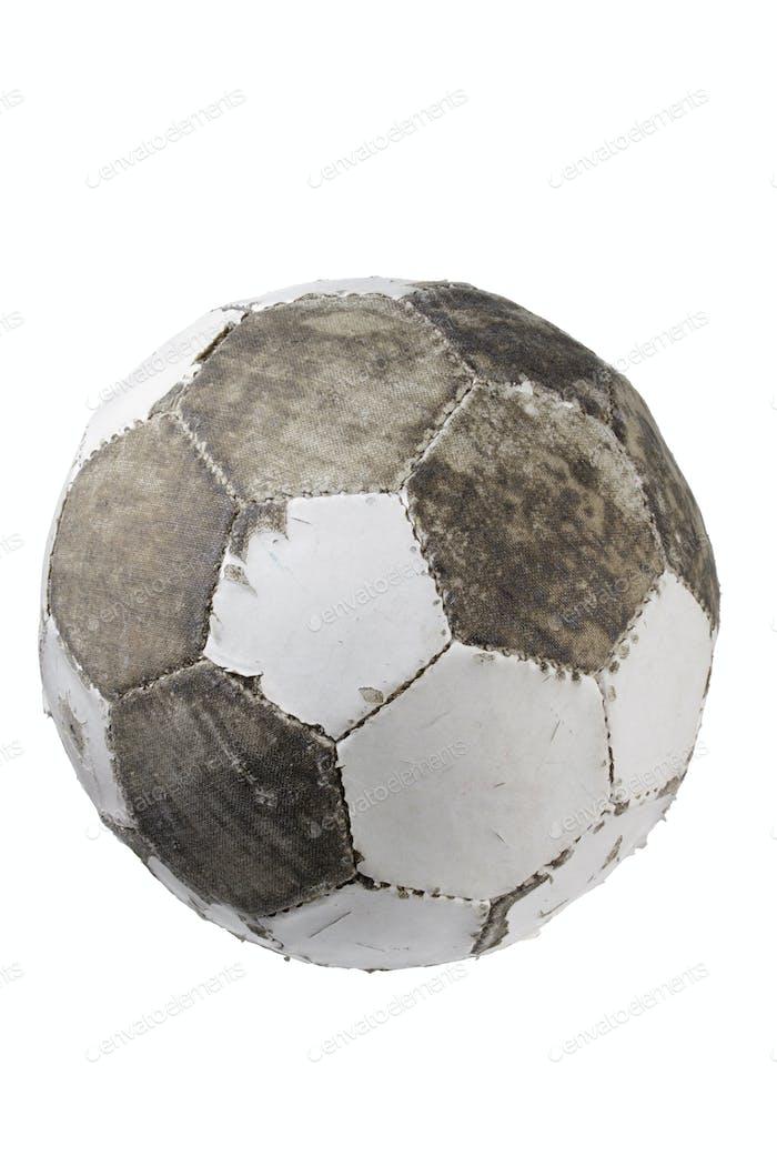 Abgenutzter Fußball