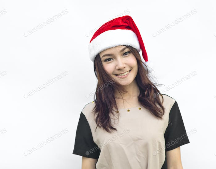 Christmas woman smiling