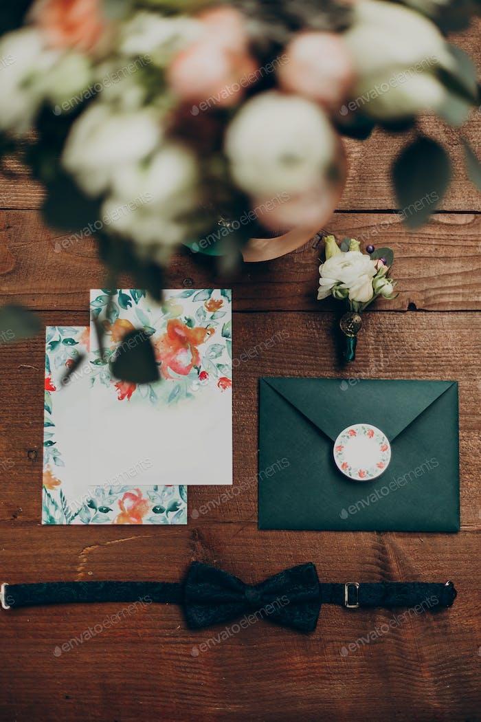 Rustikales Hochzeitseinladungs-Set