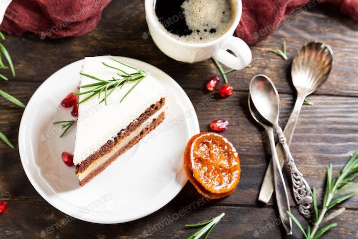 Christmas delicious chocolate cake