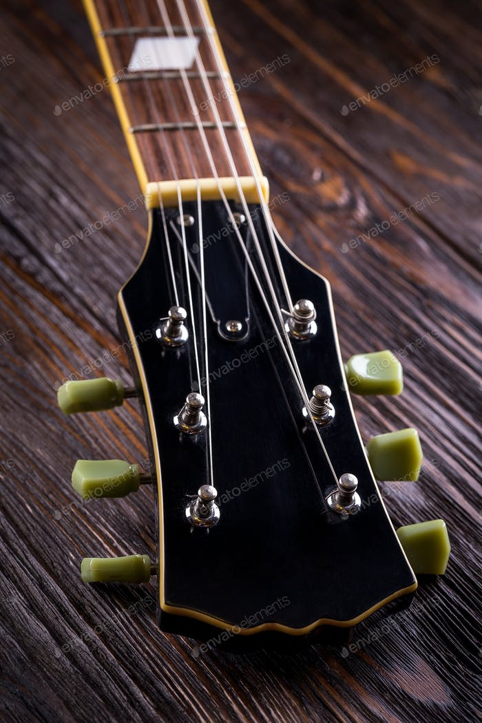 Close up of music guitar