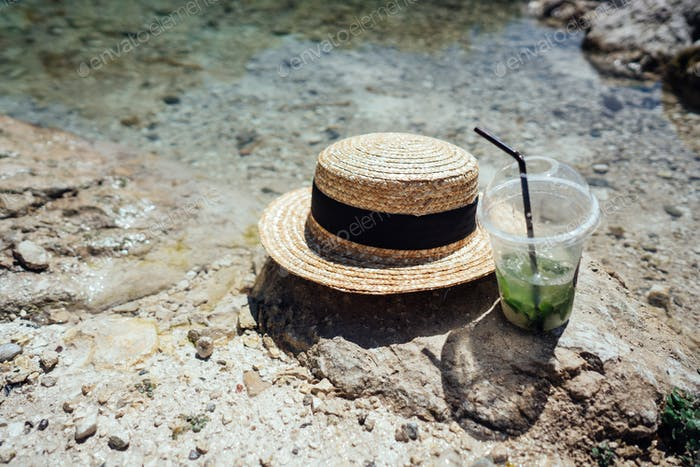 Summer refreshing cocktails with mint