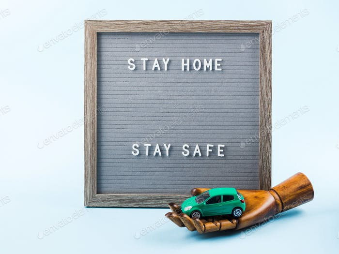 Stay home during covid19 pandemic concept