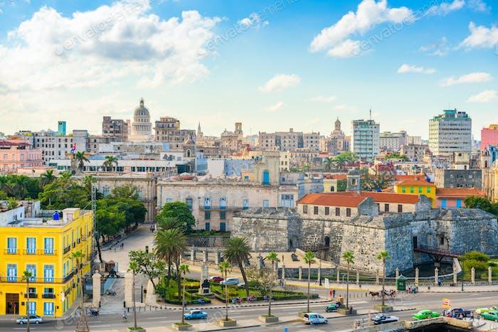 Havanna, Kuba Innenstadt Skyline