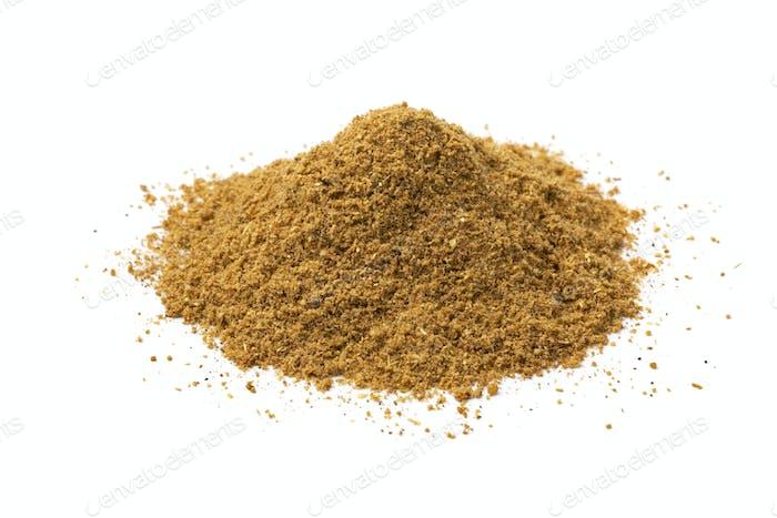 Heap of Indian masala powder