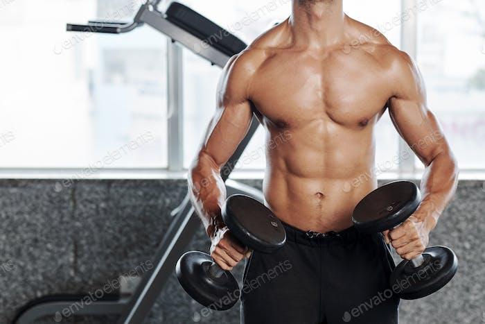 Sweaty strong man