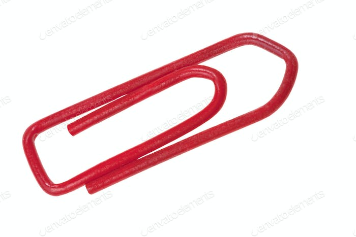 red plastic staple