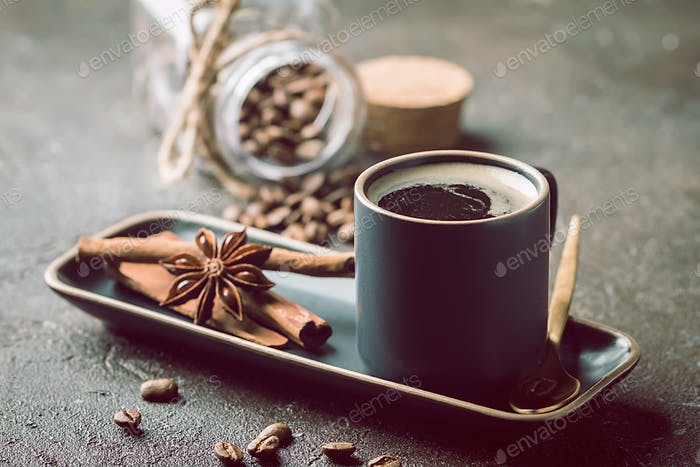 Espressotasse heißen Kaffee