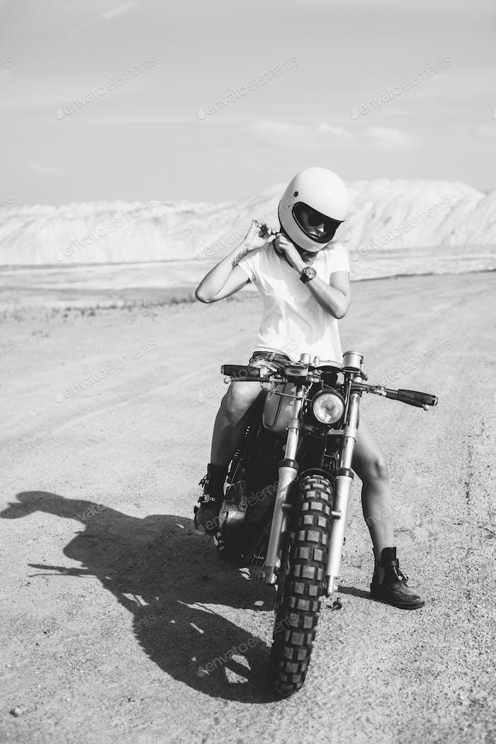 girl button up motorcycle helmet
