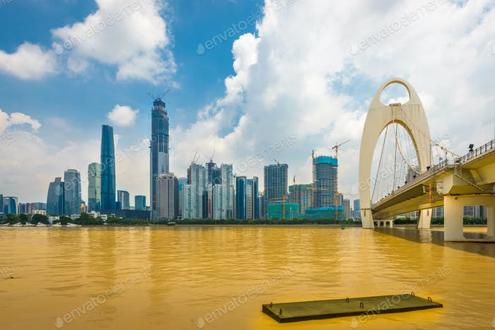 Guangzhou, China city skyline