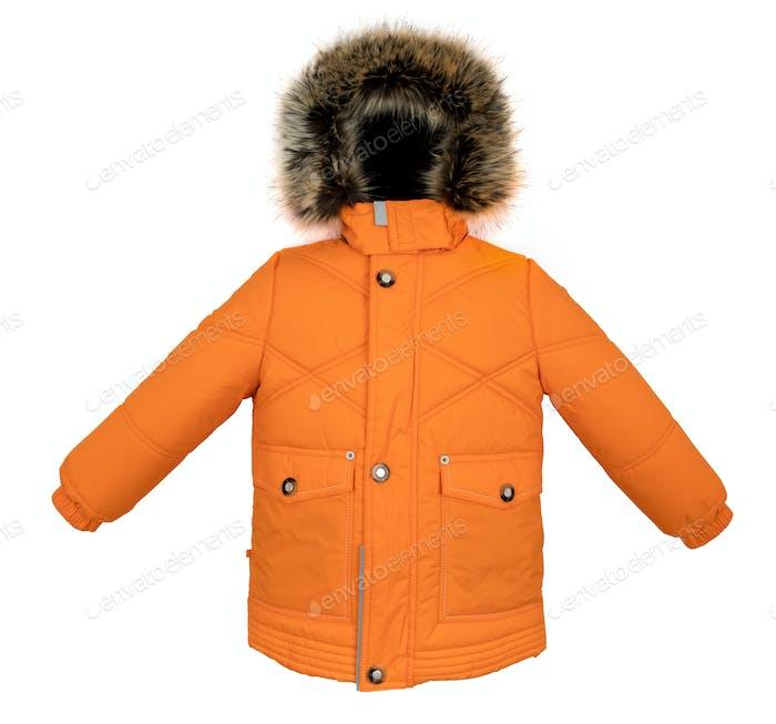Warme Jacke isoliert