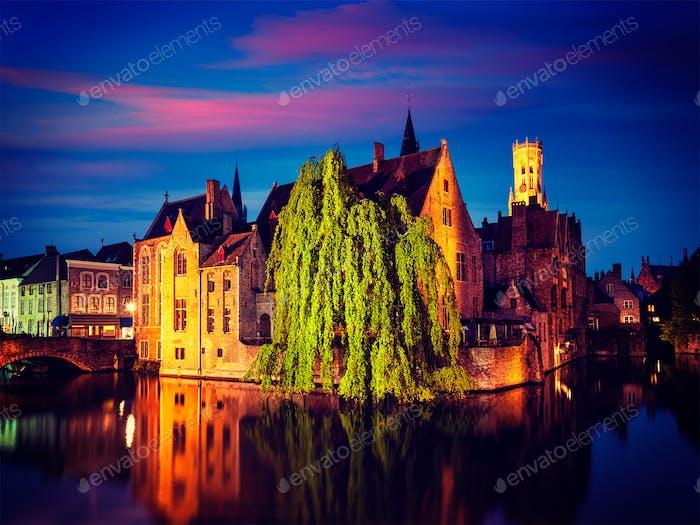 Brügge famous view, Belgien