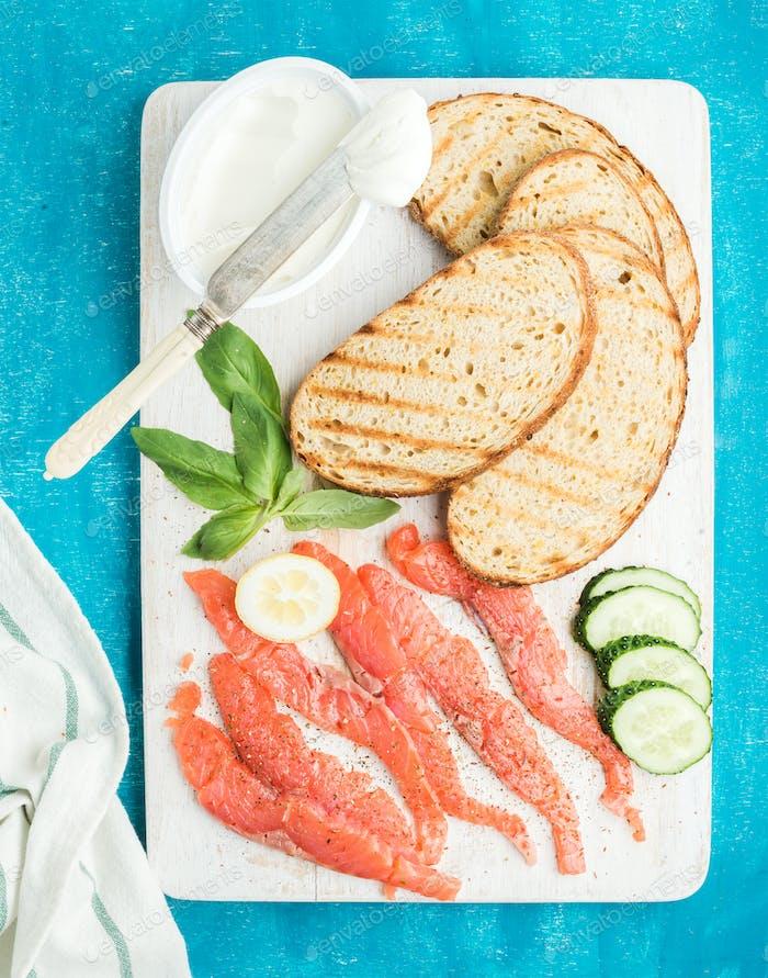 Zutaten für gesundes Sandwich