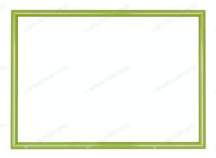 empty modern green narrow wooden picture frame