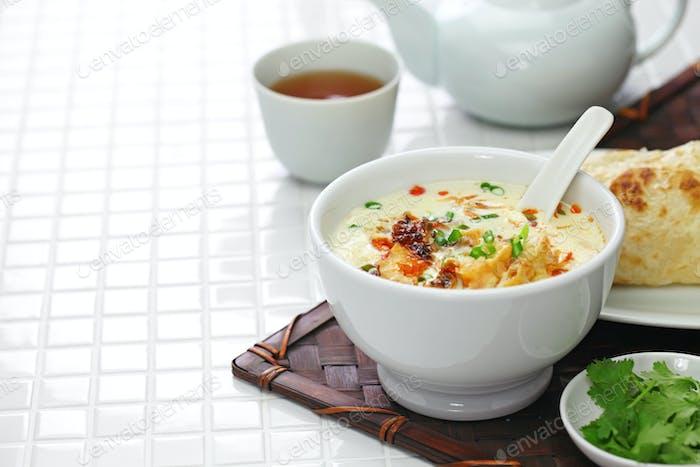 soy milk soup, taiwanese breakfast