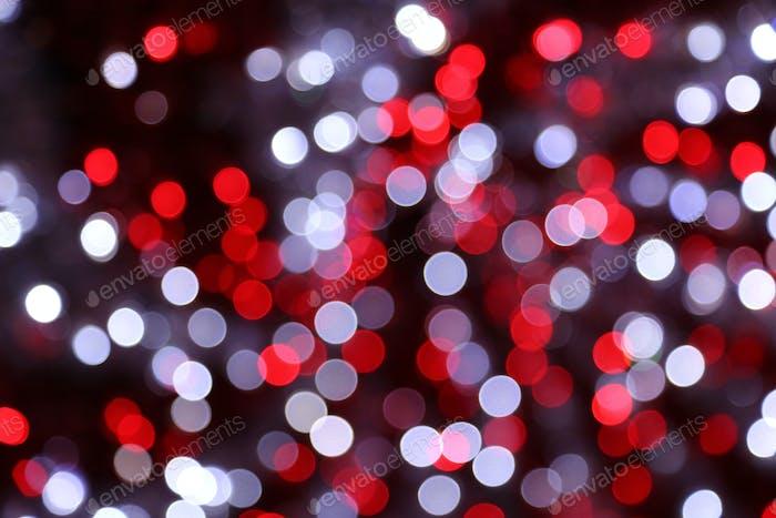 Bright unfocused lights holiday background