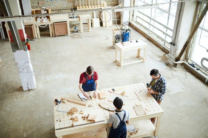 Herstellung von Holzrahmen