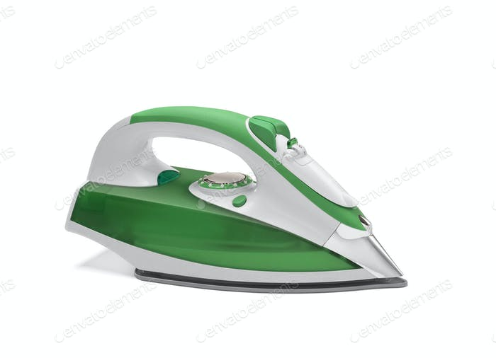 modern new electric iron on white background