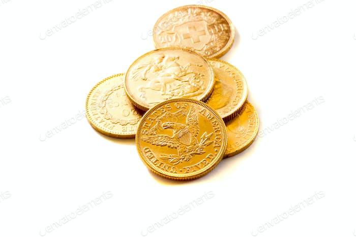Monedas de oro americanas