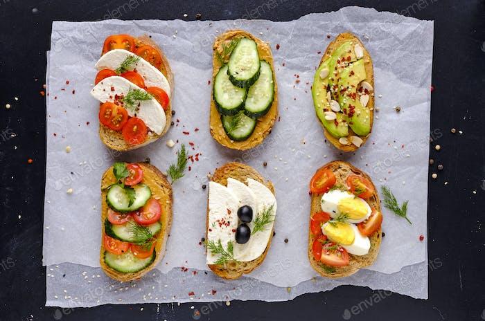 Kit de sándwiches servidos en Papel de subida