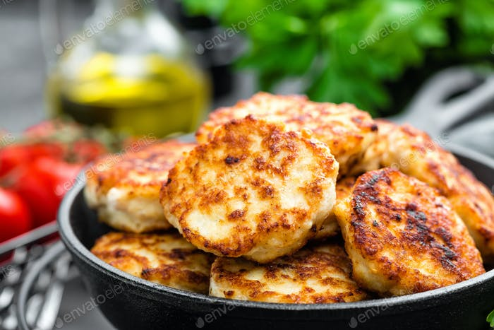 Chicken meat cutlets