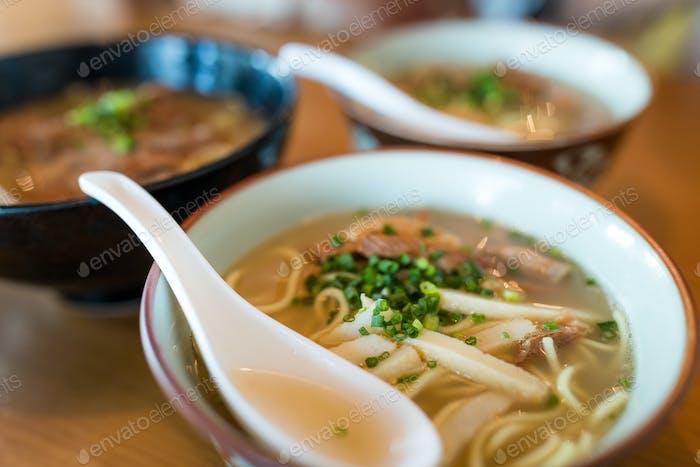 Okinawa cuisine, Japanese pork ramen