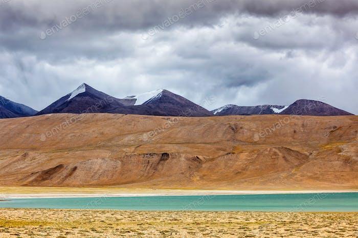 Himalayan lake Kyagar Tso, Ladakh, India