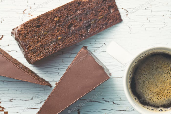 sacher cake and coffee