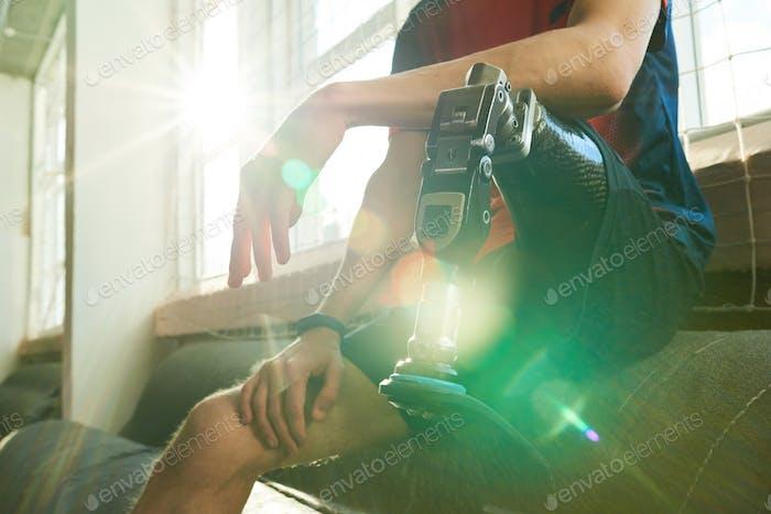 Motivational Image of Handicapped Sportsman