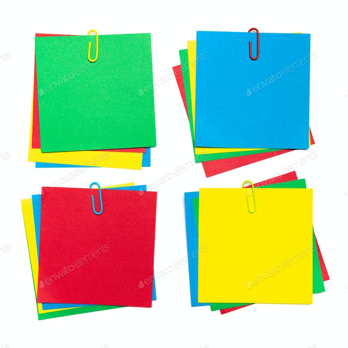 Set of 4 colors sticky note pad