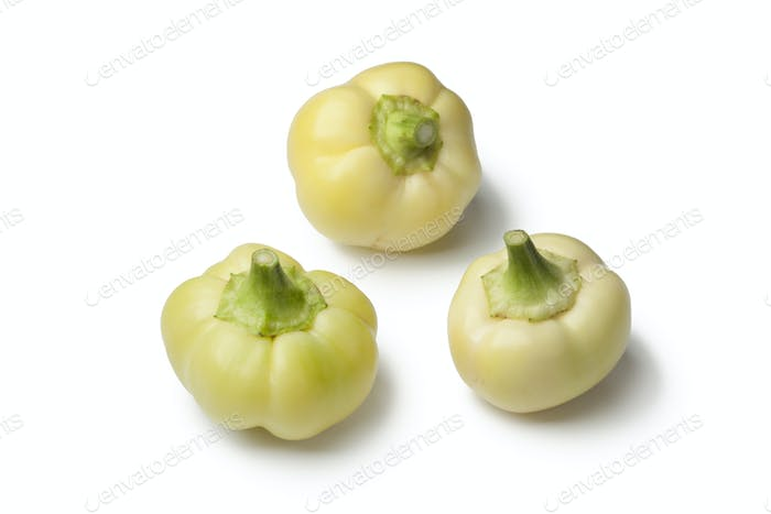White bell peppers