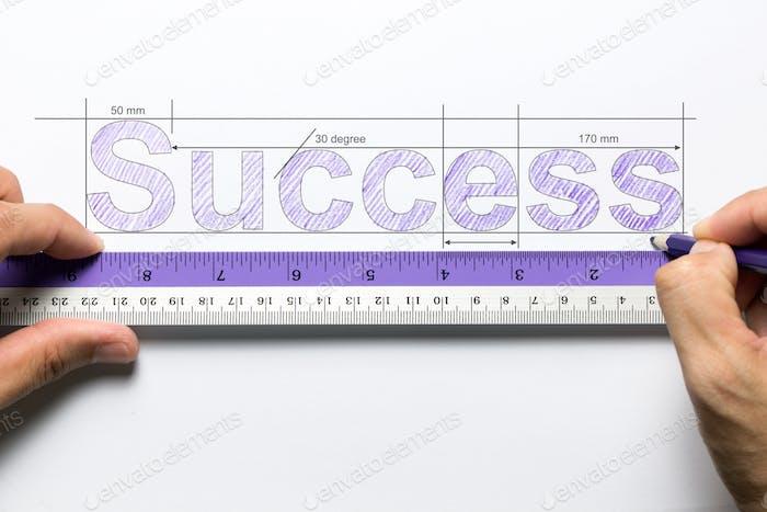 Measure success concept