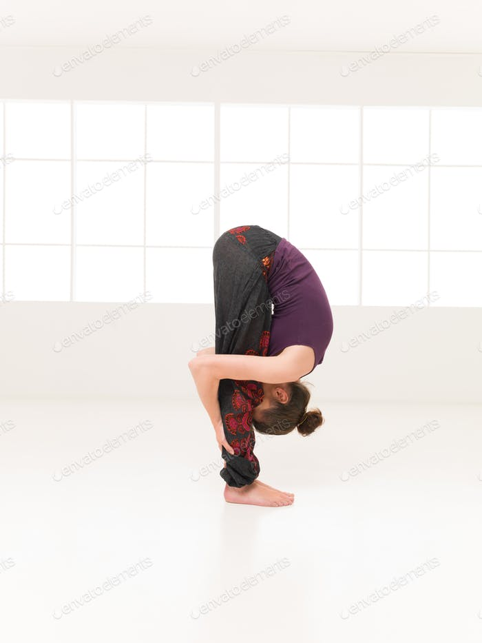 variation of begginer yoga posture