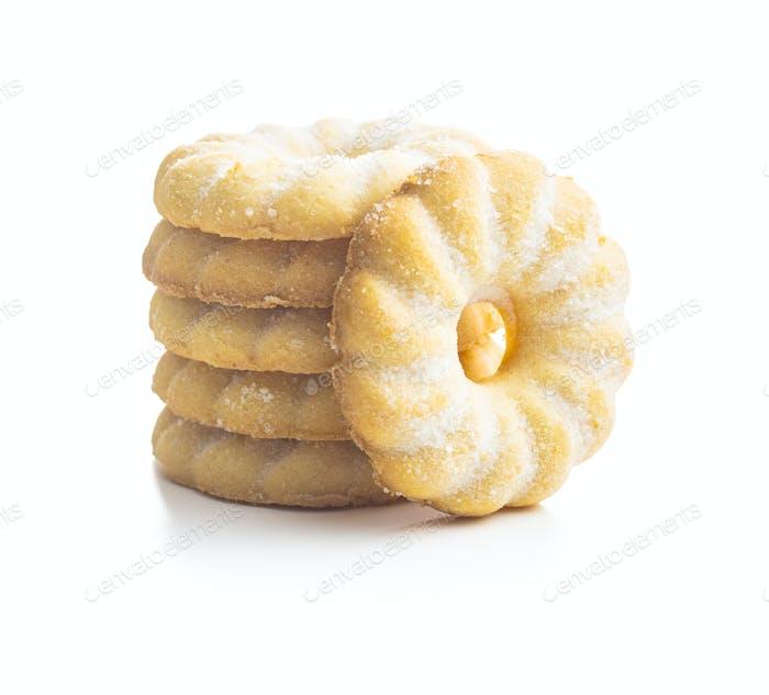 Sweet rings cookies. Biscuits with vanilla flavor