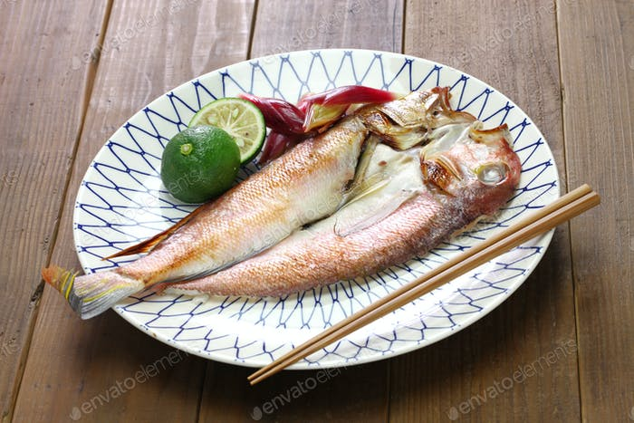 grilled japanese tilefish