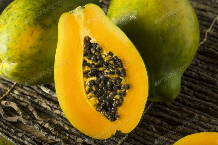 Raw Organic Green Hawaiian Papaya