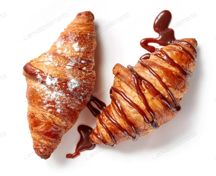 two sweet croissants