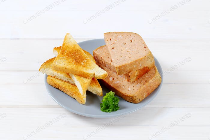 meat loaf with toast