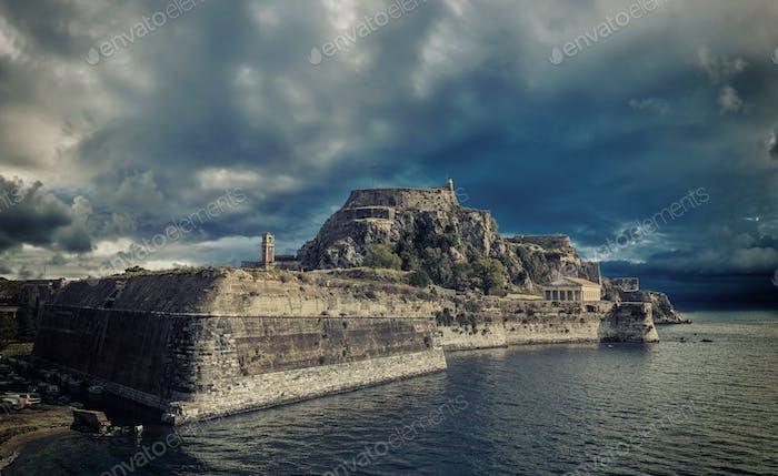 Hellenic temple at Corfu island