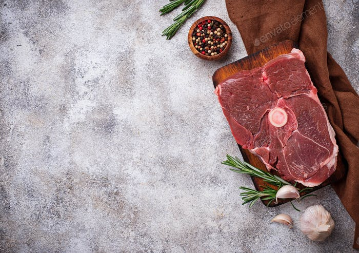 Lamb meat with rosemary and spices