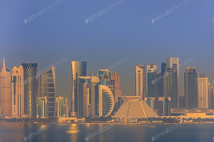 sunrise in Doha. Qatar