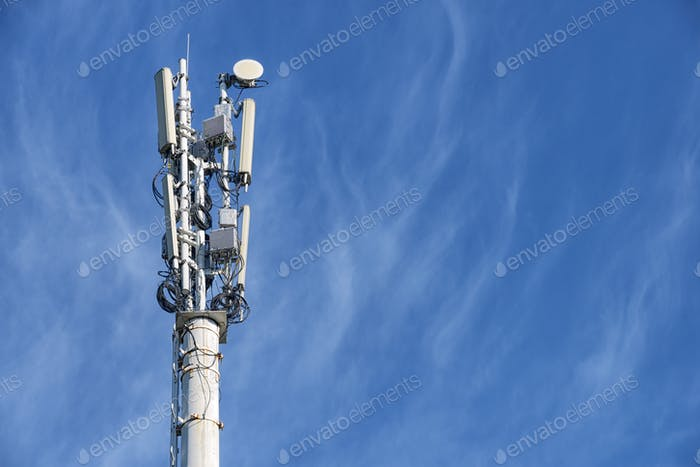 One cellular base station tower