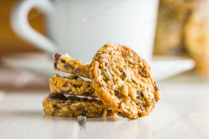 Oatmeal cookies, granola cookies.
