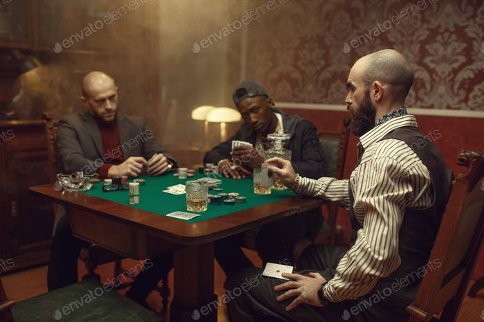 Male player cheating in poker