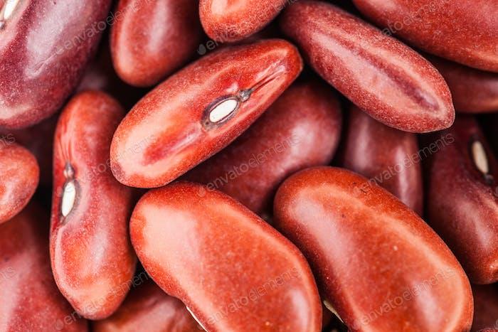 Extreme Nahaufnahme Textur von Roten Bohnen